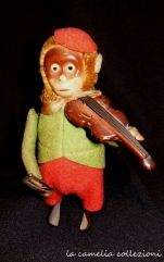 giocattolo a molla scimmietta funzionante - la camelia collezioni