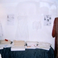 intimo antico e d'epoca - collezione - vestaglia da camera in seta e biancheria dell'800