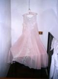 intimo antico e d'epoca - collezione - camicia da notte rosa trasparente e ricamo