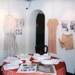 intimo antico e d'epoca - collezione - biancheria secolo 800 -camicie in seta rosa antico
