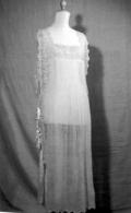intimo d'epoca - camicia da notte in bisso di lino