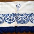 """asciugamano canapa blu - """"La Camelia Collezioni"""""""