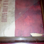 """restauro bandiera Clemente Biffignandi rottura vetro cornice - """"La Camelia Collezioni"""""""