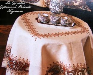 """table habillè punto assisi - """"La Camelia Collezioni"""""""