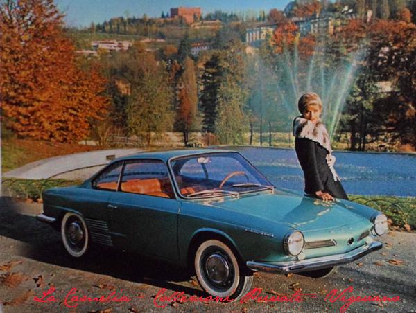 """couperino sportivo prototipo Hino """"Contessa"""" dello stilista Michelotti - Salone di Torino 1962"""