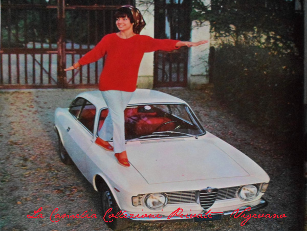 Giulia G.T. sprint pubblicità Alfa Romeo del 1963 su Quattroruote del 1964