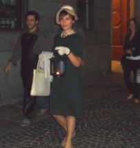 passeggiata verso regina Margherita con Ada Mombelli