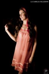 intimo d'epoca - lingerie colore arancio con dettagli in pizzo - la camelia collezioni