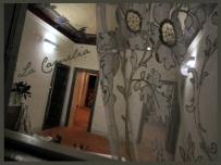 tende in tulle - allestimento scenografico palazzo amisani