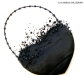 borsa a forma di cuore con manico colore nera di raso con applicazione di perline - la camelia collezioni