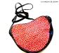 borsa con tracolla a forma di cuore con pois anni 70 - la camelia collezione