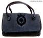 borsa fine 800 in velluto con ricamo rialzato colore nero - la camelia collezioni