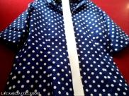 vestiti a pois - vestito camicia e gonna in seta blu cobalto con pois bianchi - la camelia collezioni