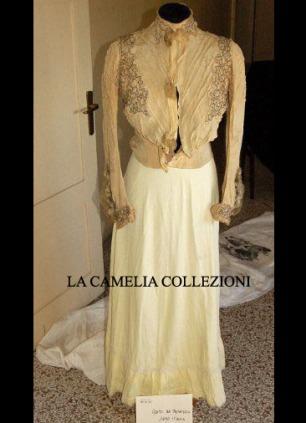 camicetta domenicale e gonna con sellino fine 1800 - moda femminile 1800 - la camelia collezioni