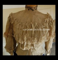 camicia domenicale da parata fine 1800 - moda femminile 1800 - la camelia collezioni