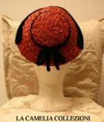 cappelli in paglia con nastrino nero in velluto- collezione - la camelia collezioni