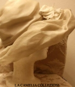 cappello da cerimonia colore bianco sporco - collezione - la camelia collezioni