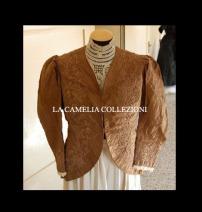 giacchina in taffettas epoca 1800 - moda femminile 1800 - la camelia collezioni