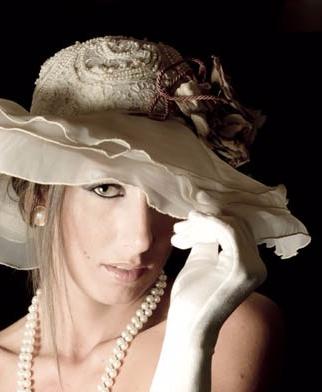 cappello-in-chiffon-bianco-macramè - la-camelia-collezioni
