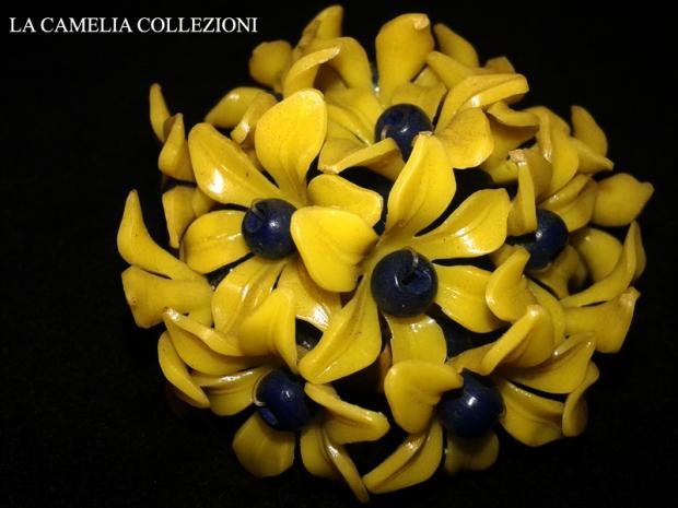 applicazioni per borsette e vestiti anni 60 - fiore giallo - la camelia collezioni
