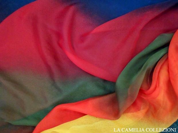 chiffon multicolor - chiffon a metro vintage - la camelia collezioni