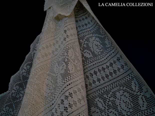 copriletto tombolo 01 - copriletto tombolo color panna - la camelia collezioni