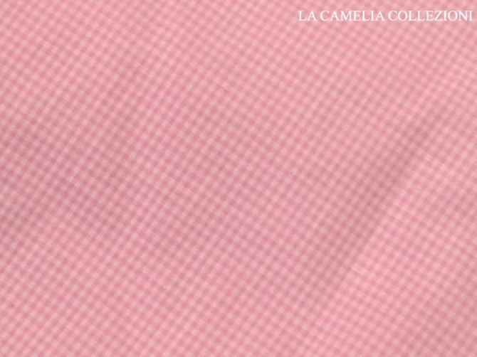 tessuto vintage colore rosa a quadrettini ( taglio unico) - la camelia collezioni