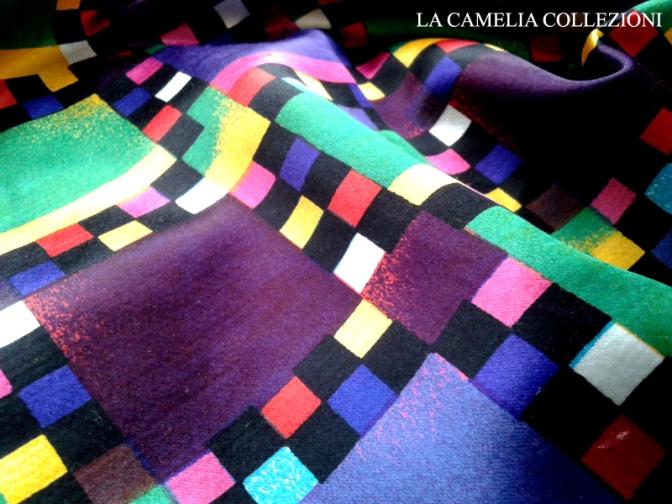 tessuto vintage fantasia anni 90 - la camelia collezioni