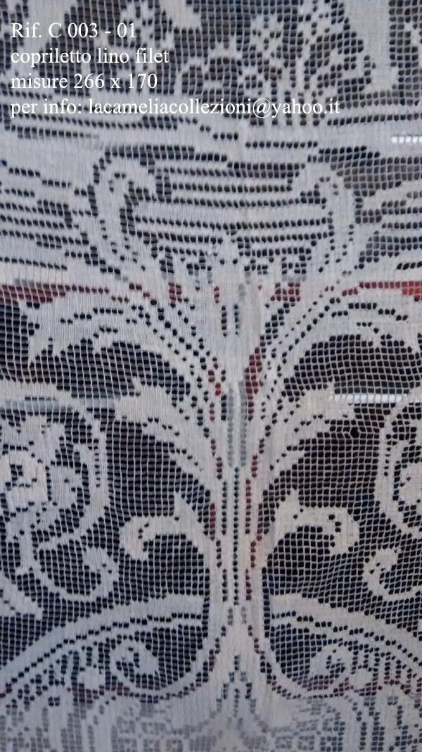 C 003 1 copriletto lino fil 266 170 la camelia collezioni - Copriletto lino ...