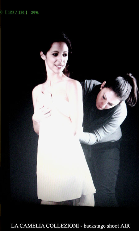 la camelia collezioni - backstage shoot AIR