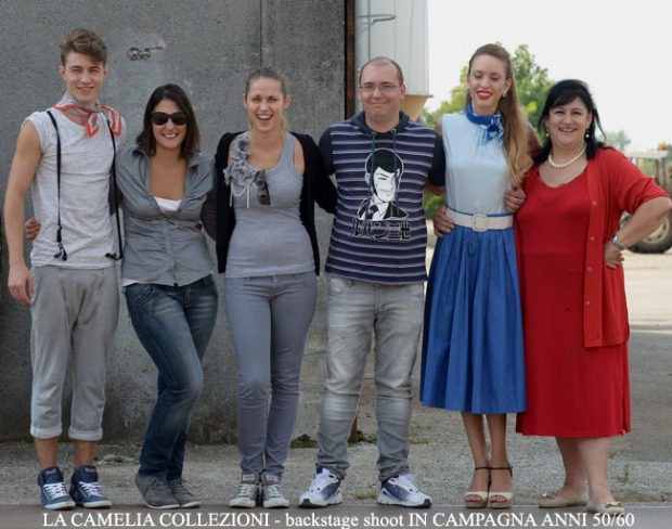 la camelia collezioni - backstage shoot IN CAMPAGNA ANNI 50 60