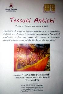 locandina esposizione tessuti - la camelia collezioni