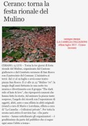 rassegna stampa sfilata cerano (novara) 15 luglio 2015 - la camelia collezioni