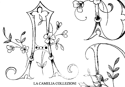 cifre alfabeti iniziali da ricamare - la camelia collezioni - 03