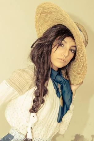 mondine-vestiti mondine - cappello paglia - la camelia collezioni