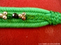 cinture vintage anni 60 - verde con perline - la camelia collezioni