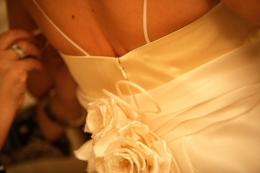 S001 - vestiti da sposa con strascico e giacchino in raso 3 - la camelia collezioni