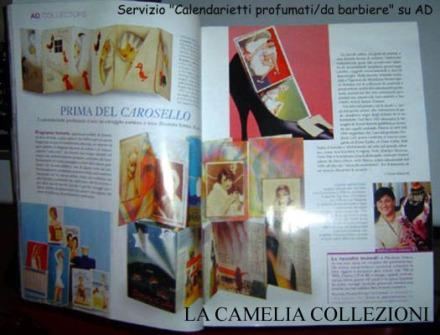 calendarietti profumati - rivista AD - la camelia collezioni