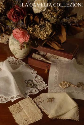 fazzoletti da ballo, da fidanzamento, da galanteria e nuziali – ricamo italiano - la camelia collezioni