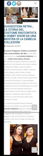 HOBBY SHOW 2015 - articolo la camelia collezioni
