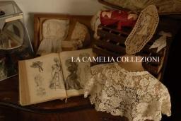 mantellina o copri spalle da pomeriggio fine 800 in pizzo macramè - ricamo italiano - la camelia collezioni