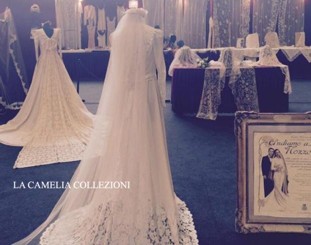 allestimenti a tema matrimonio -parco esposizioni novegro - fiera brocantage - allestimento area tematica spose d'epoca 2015 - la camelia collezioni