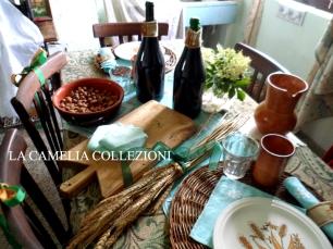 allestimento tavola rustica - tavola di campagna - la camelia collezioni