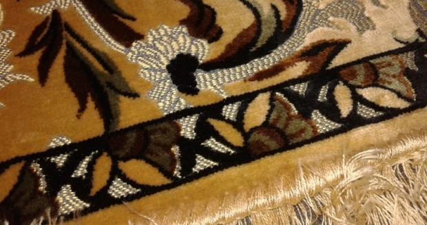 velluto soprarizzo autentico d'epoca con bordura frangia - la camelia collezioni