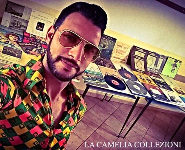 camicia uomo optical multicolor - vestiti hippy- vestiti anni 70 - la camelia collezioni
