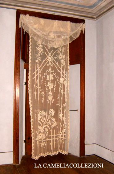 tende in tulle - tende napoleone III - colore ecrù - misure 1,50 x 3,10 - la camelia collezioni