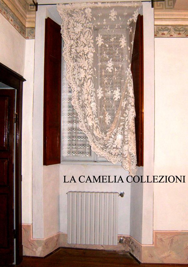 tende in tulle - tende napoleone III - tenda a coltrina - misure 1,20 x 2,40 - la camelia collezioni
