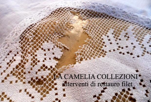 restauro filet - interventi di restauro su tessuti - la camelia collezioni