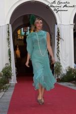 vestito anni 20 30 charleston verde acqua con piuma - la camelia collezioni