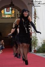 vestito charleston flapper nero corto con frangie - la camelia collezioni